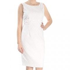 Kasper Women's Honeycomb Jacquard Sheath Dress