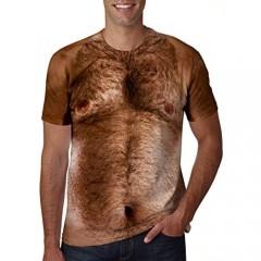 uideazone Men Women Short Sleeve T-Shirt Casual 3D Creative Print Crewneck Graphic Tees