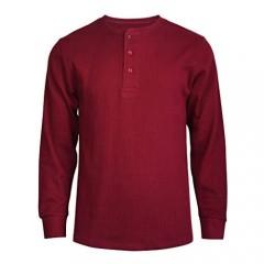 ToBeInStyle Men's Heavy or Medium Weight Premium Waffle Thermal Long Sleeve Crewneck Shirt