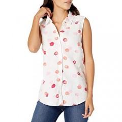 Essentials Women's Sleeveless Linen Shirt