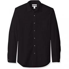 Essentials Men's Long-Sleeve Slim-fit Shirt