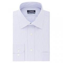 Chaps Men's Dress Shirt Regular Fit Stretch Collar Stripe