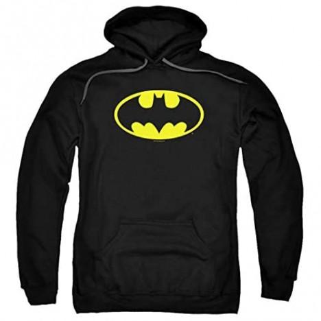 Batman Classic Logo Pull-Over Hoodie Sweatshirt & Stickers