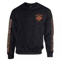 Harley-Davidson Men's Eagle Piston Fleece Pullover Sweatshirt  Black 30299948