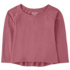 The Children's Place Girls' Baby and Toddler Basic Layering Tee
