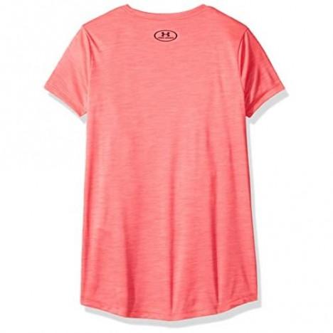 Under Armour Girls' Hybrid Big Logo Short Sleeve T-Shirt