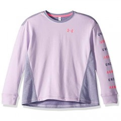 Under Armour Girls' Rival Terry Crew