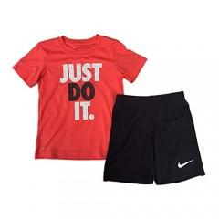 Nike Baby Boys' 2 Piece Just Do It Short Sleeve Shirt & Shorts Set (12M)