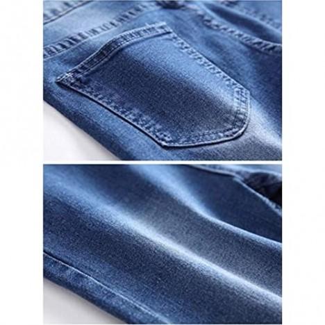 DEITP Boy's Blue Skinny Fit Stretch Fashion Jeans Slim Denim Pants