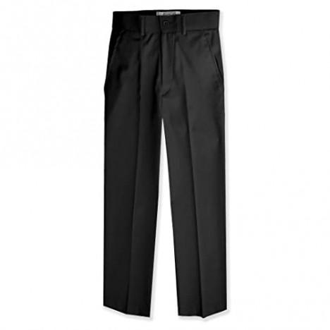 Johnnie Lene Boys Flat Front Slacks Slim Fit Dress Pants