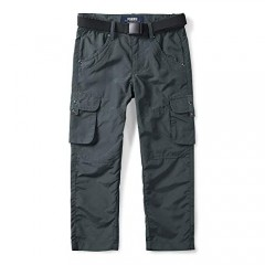 OCHENTA Kids Boy's Youth Pull on Cargo Pants Quick Dry Outdoor Hiking Camping Fishing
