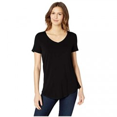 Essentials Women's Relaxed-Fit Short-Sleeve V-Neck Tunic